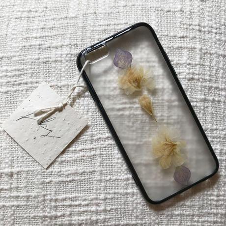 フローラル i phone 6/6S case(ブラック)⑧