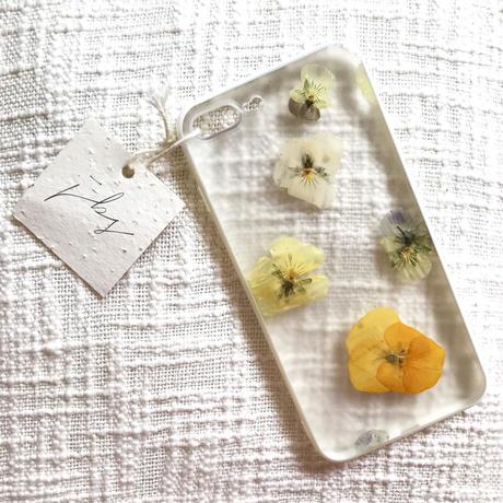 フローラル i phone7/8Plus case  (ホワイト)⑤