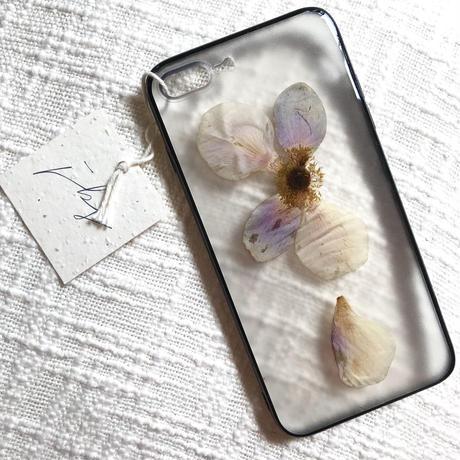 フローラル i phone7/8Plus case  (ブラック)⑤
