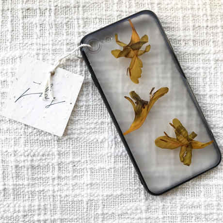 フローラル i phone 7/8 case  (ブラック)④