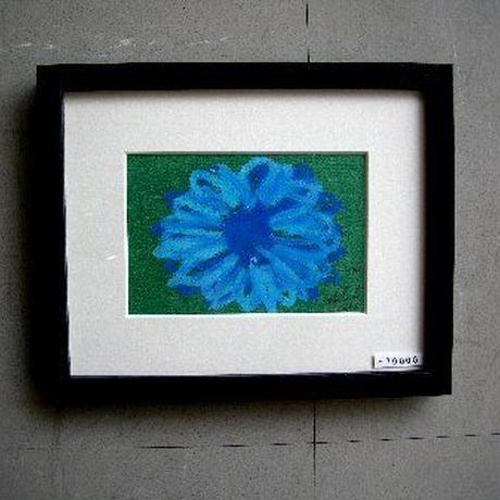 #1 現代アート作家・今井アレクサンドルのクレヨン画 「花」