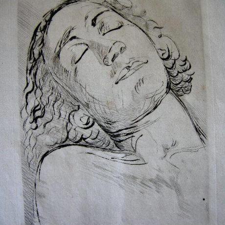 ベルト・モリゾの銅版画{ドライポイント}キャンセル版