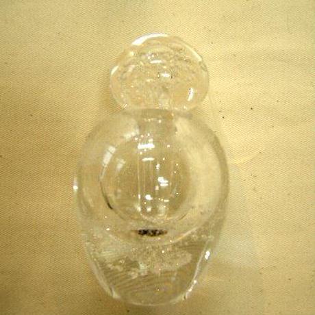 ガラス作家 石垣幸秀作品  香水瓶 E32-2  吹きガラスークリア  売却済み