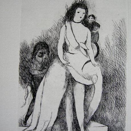 *売却済み  マリー・ローランサンの銅版画