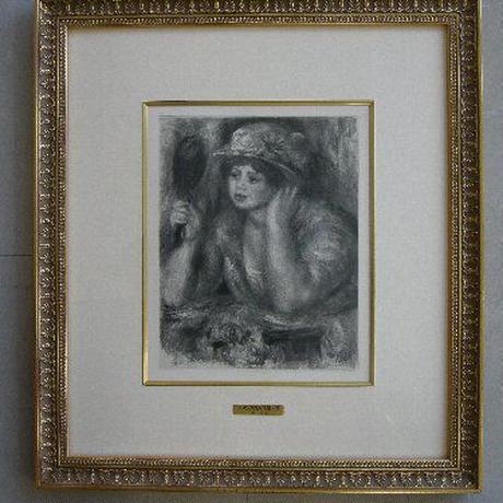 ルノワール 銅版画 ヴォラール集より 「鏡を見る女」-1919年制作   :売却済み