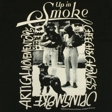 CHEECH &CHONG photo T shirt(black)