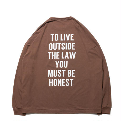 Print L/S Tee (TO LIVE OUTSIDE THE LAW)