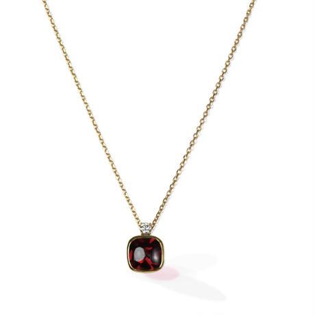 K18 ガーネット ダイヤモンド ネックレス