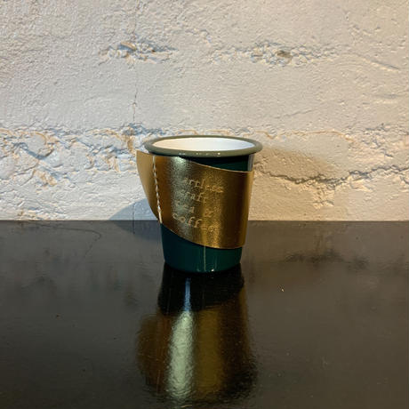 【Limited】  falcon  enamelware cup + craft leather sleeve +Gift box