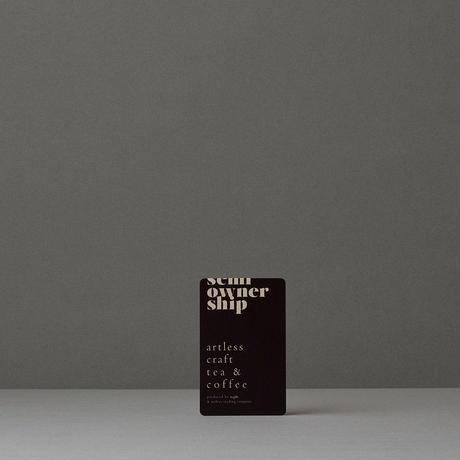 free drink passport : 1 year(フリードリンクパスポート & オーナーズブレンド・コーヒー豆と 焙じ茶セット<各1本>)