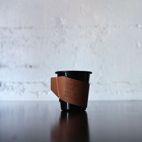 falcon  enamelware cup +craft leather sleeve