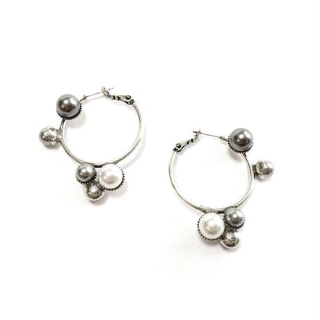 NAUSICAA Hoop Earrings (Grey Silver)