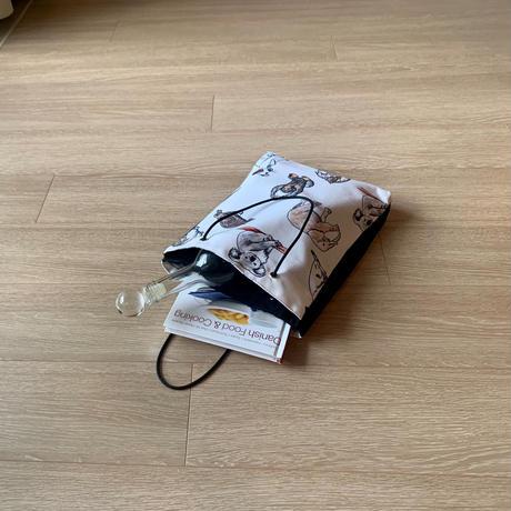 ARUMO どうぶつプリント ダブルポケットバッグ / カラー