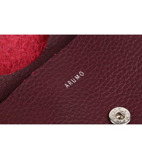 ARUMO コイン&カードケース /  バーガンディ