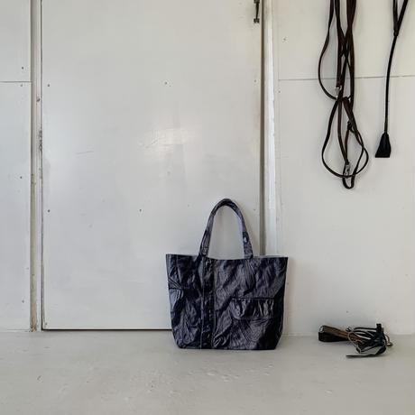 ARUMO  トロンプルイユトートバッグ / レザージャケット&ホワイトキャンバス