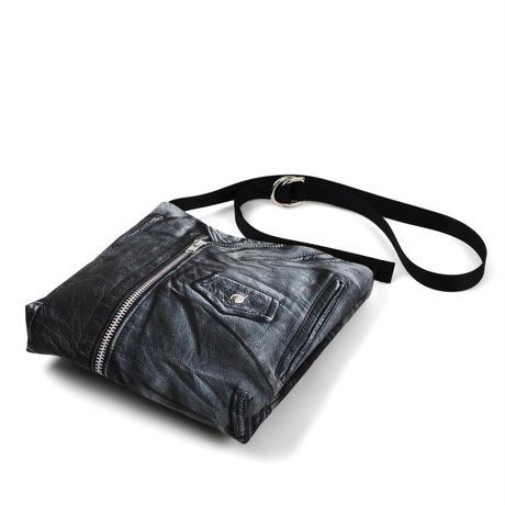 ARUMO  トロンプルイユミニショルダーバッグ  / ブラックレザージャケット