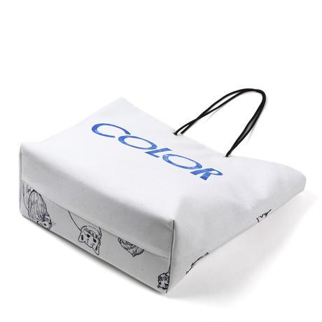 ARUMO どうぶつプリント トートバッグ / カラー & ホワイト