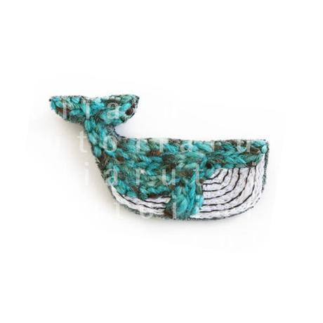 クジラ(刺繍)