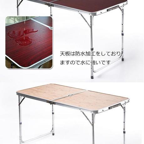 軽いアルミ4~6人用持ち運びテーブル