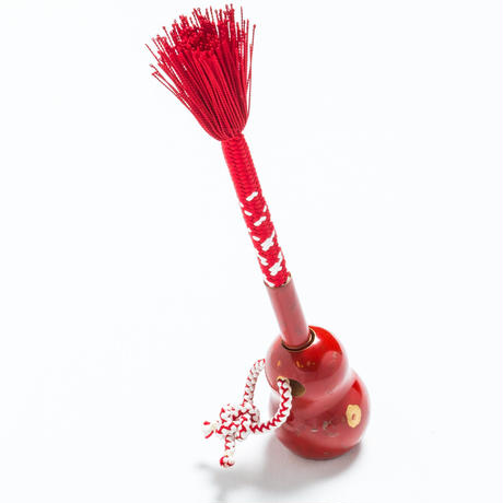 Kumihimo Urushi Pen (Red and White)