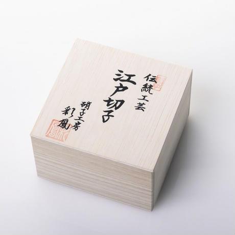 江戸切子レンズグラス(笹星)赤【アルヴォリ×キヤノンMJ】