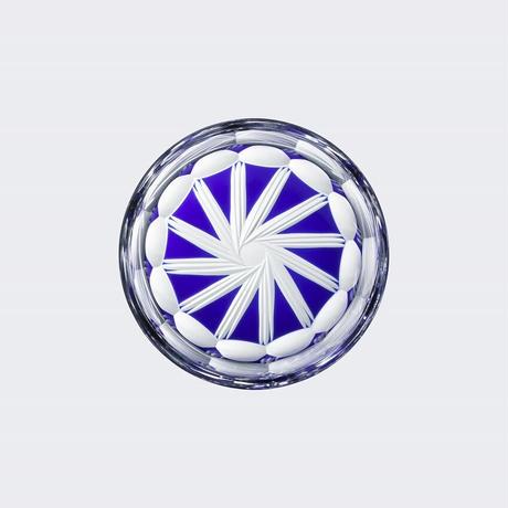 江戸切子レンズグラス(笹星)青【アルヴォリ×キヤノンMJ】