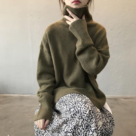 high neck loose knit/5color