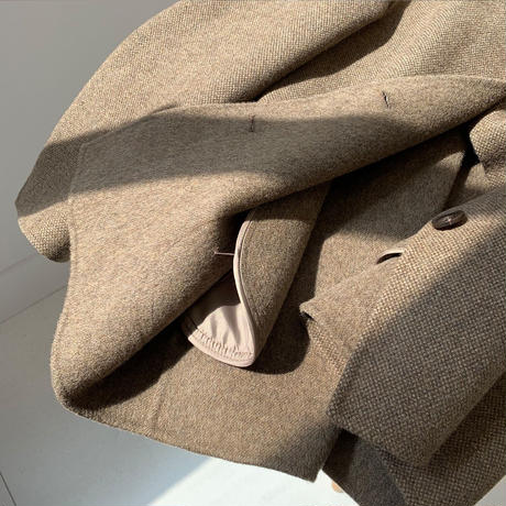 【Hand made】middle basic coat【wool 90%】