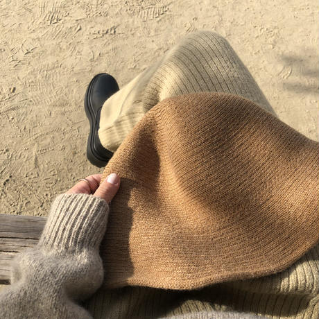 wool knit hat/3color