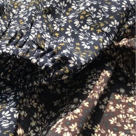 vintage flower  long dress/2color