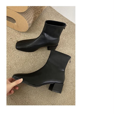 eco leather short boots/3color