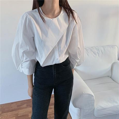 twist sleeve blouse/2color