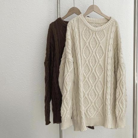 big silhouette knit/2color
