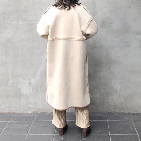 reversible mouton boa coat/2color