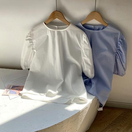 cotton puff sleep tops/2color