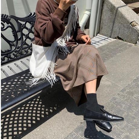glen check skirt/2color
