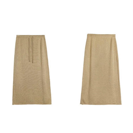 relax knit long skirt/2color