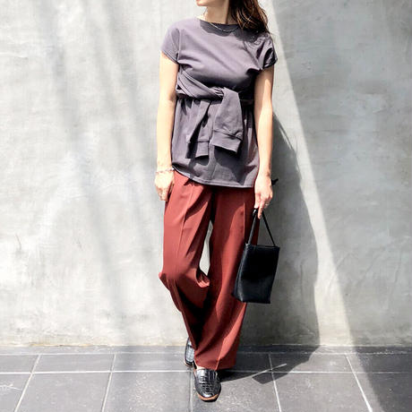 3way sleeve slit Tee/2color