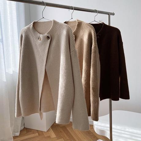 double button knit/3color