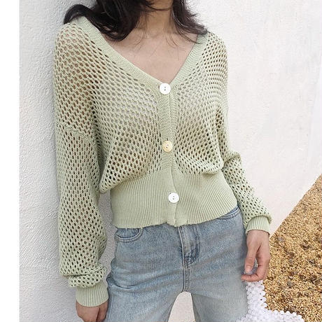 net short cardigan/2color[0063]
