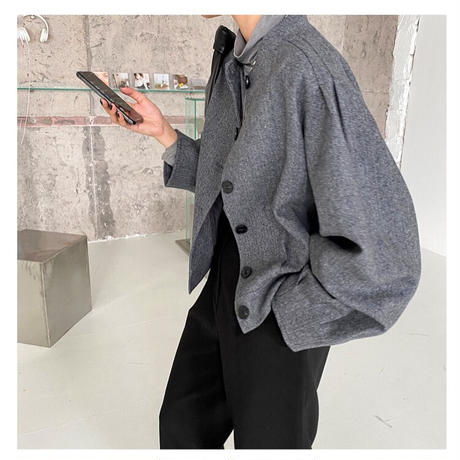wool tweed short coat/2color