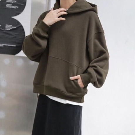 【original】simple loose hoodie