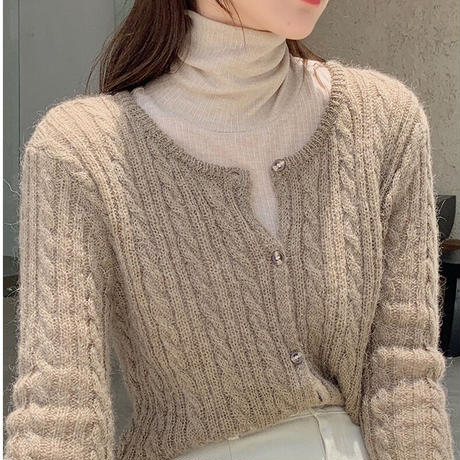 rib turtleneck inner/3color