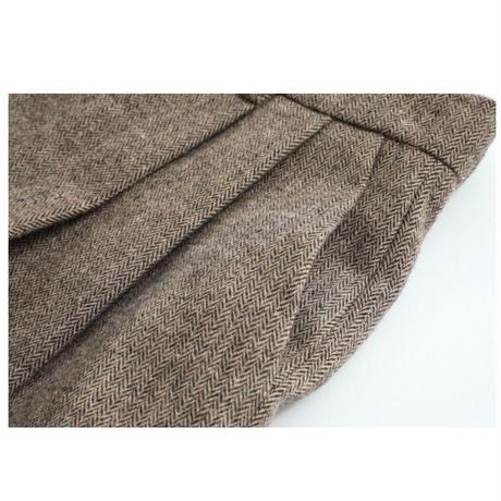 herringbone wool slacks/2color