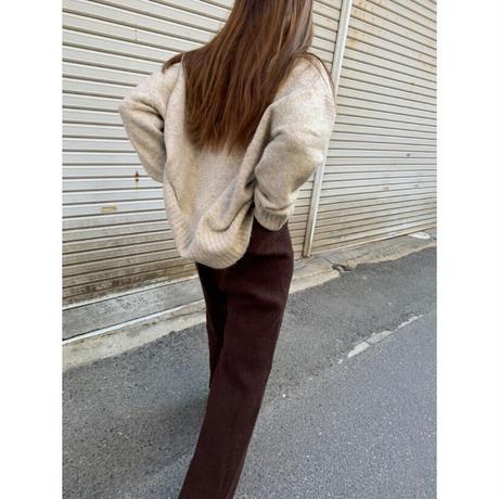 alpaca touch knit pants/3color