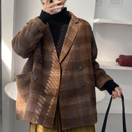 big check jacket coat