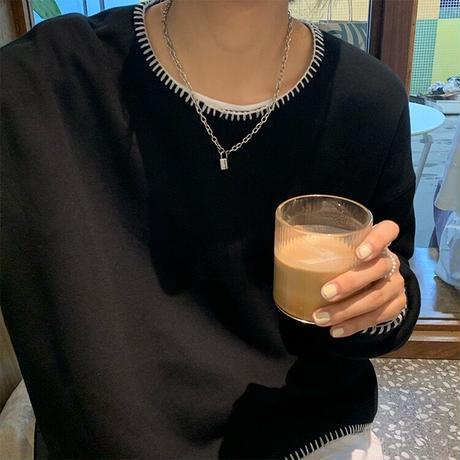 hand stitch pullover