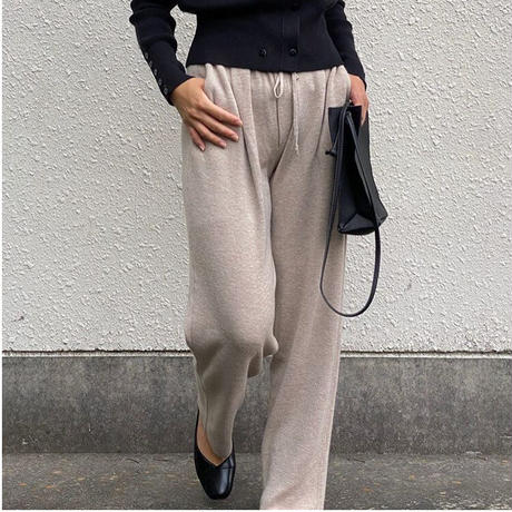 basic wool knit pants/3color