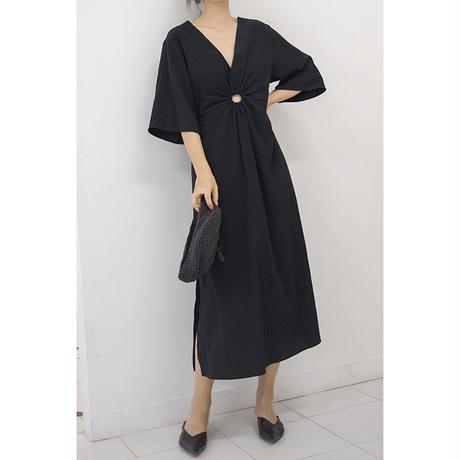 flare design long one-piece(2 colors)