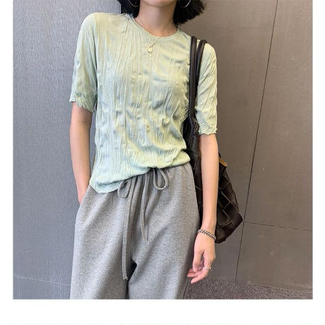 wrinkle tops/3color